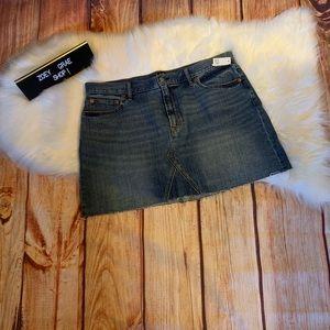 Gap Raw Edge Skirt NWT